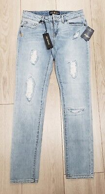 nwt LUCKY BRAND Zoe Jegging Faded Stitched Tattered Distressed Jeans Girls 12