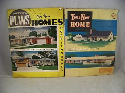 Mid Century Home Building Trade Catalogs Plans Ranch Illustrated 1950's