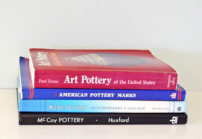 Lot of 4 Art Pottery Collector Encyclopedias and Price Guides