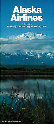 Alaska Airlines - System Timetable - 15 May 1977