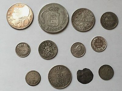 Lot Of 1.62 Oz Of Better World Silver Coins Dated Medieval - 1965