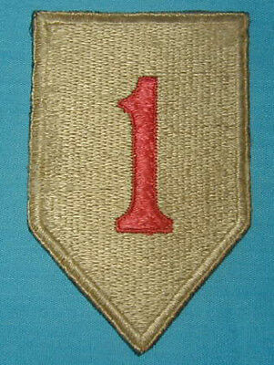 Original WWII English Made 1st Division patch D-Day Unit - British Made