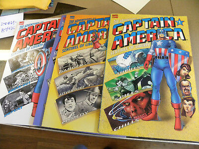 Marvel 1991 all 4 issues THE ADVENTURES OF CAPTAIN AMERICA 1 2 3 4 reg $20 qq