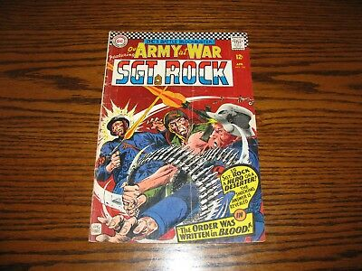 DC - OUR ARMY AT WAR SGT ROCK #166 - Hero or Deserter!! Glossy VG/VG+ 1966