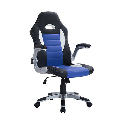 Office Chair PU Leather Swivel Adjustable Racing Gaming Bucket Computer Chair