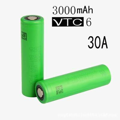 2x 18650 30A 3000mAh 3.7V Rechargeable High Drain Li-ion Battery For Sony VTC6
