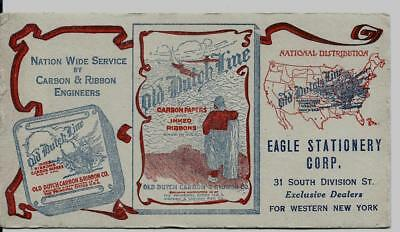 Eagle Stationery Corp Buffalo NY Advertising Blotter / Old Dutch Carbon Paper