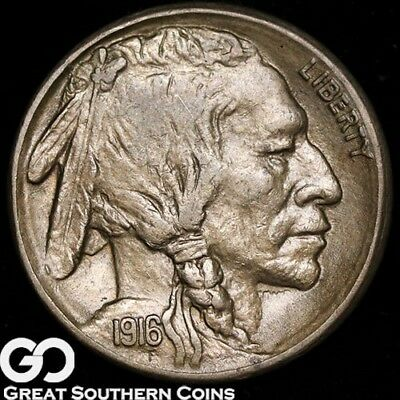 1916-S Buffalo Nickel, Choice Uncirculated+ Better Date