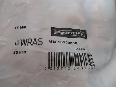 Joblot Of25 Brand New Masterflow 15Mm Copper Elbow (Solder)Cheap Post & Packing