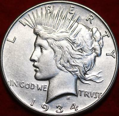 Uncirculated 1934-S San Francisco Mint Silver Peace Dollar