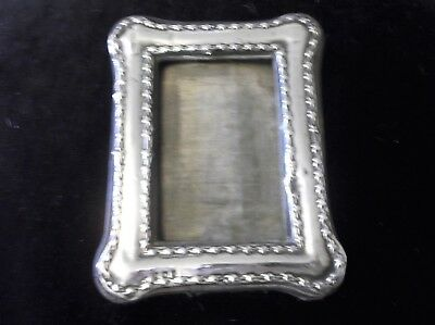 "Small Silver Hallmarked Birmingham 1908 Photo Frame Samuel Levi No Glass 5"" X 4"""