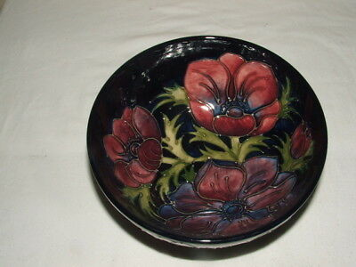 Moorcroft Art Deco Early Anemones Footed Bowl   Truly Fabulous
