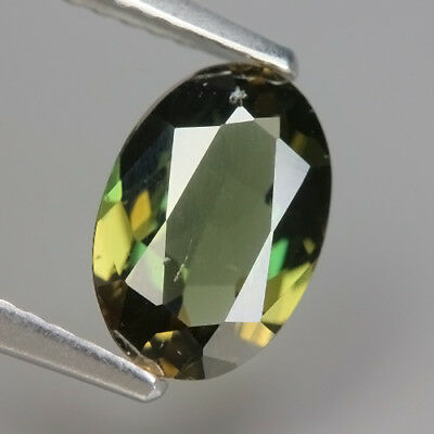 1.34  Ct Natural Unheated Greenish Yellow KORNERUPINE Oval Gem @ See Video !!
