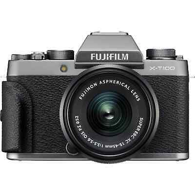 Fujifilm X-T100 Mirrorless Digital Camera with 15-45mm XC Lens (Silver) Red Hot
