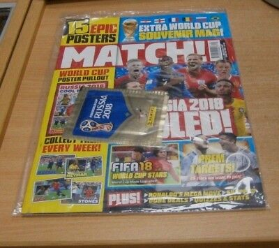 Match magazine #1983 17th JUL 2018 World Cup Souvenir Mag, 15 Posters + Stickers
