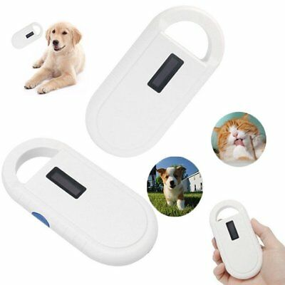 Universal ISO FDX-B ID64 Dog Pet Microchip Reader Scanner Animals Tag Handheld