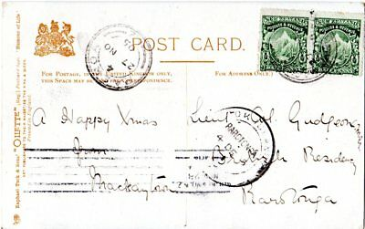 Cook Islands 1905, incoming mail postcard from MACKAYTOWN New Zealand.