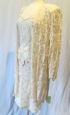 Vintage Judith Ann Creations Suit Cami Shirt Top Skirt Jacket Sequins Beads NWT