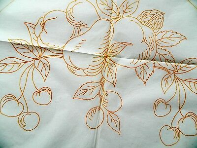 Orchard Fruits ~ Vintage Deightons Embroidery Transfer Pattern 61