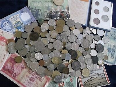 JOB LOT OF OLD COINS AND BANKNOTES 99p KQ 16
