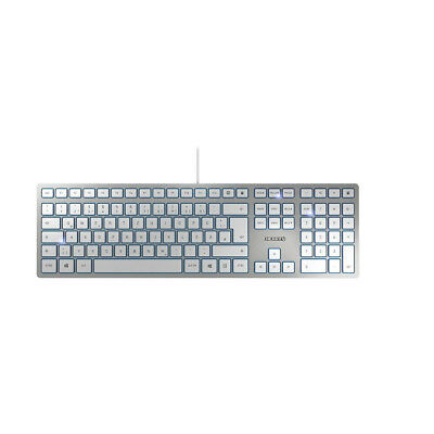Cherry KC 6000 Slim USB Tastatur silber