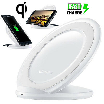 Qi Wireless Fast Charger Dock Charging Pad Stand for Samsung Galaxy S9 S8 Note 8
