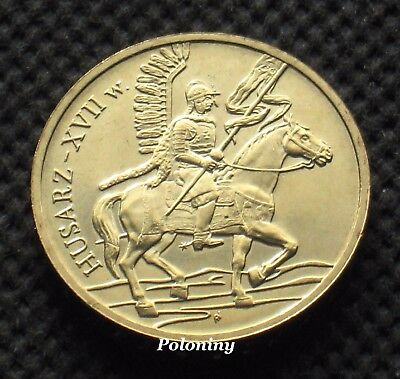 COIN OF POLAND - HISTORY OF POLISH CAVALRY 17th CENTURY WINGED CAVALRY (MINT)