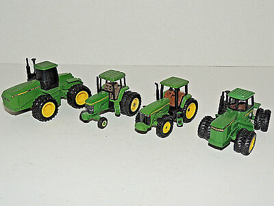 Lot of (4) John Deere 1/64th Scale Toy Tractors - 8560, 8850, 7800, 8300