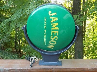 Jameson Whiskey Rotating Light Up Sign, John Jameson & Son Limited Bar Pub Lamp