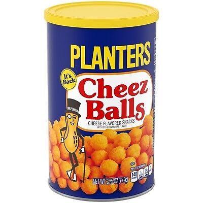 They are Back 2018 PLANTERS CHEEZ BALLS Sealed Can 2.75 OZ Limited Sold Out