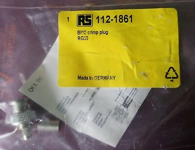Telegartner Straight 75Ω Cable Mount BNC Connector, Plug, Nickel RS 112-1861