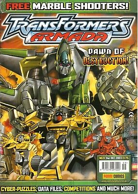 TRANSFORMERS ARMADA # 9 / 31st DEC 2003 / PANINI COMICS UK / GOOD CONDITION