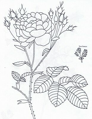 Rose Flower Design ~ Iron-on Embroidery Transfer Sewing Pattern 72