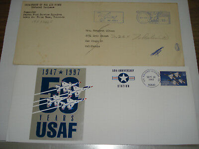 USAF US Air Force 50th ACADEMY &  Lowry AFB CO 3415th FOOD SERVICE SQUADRON 1956