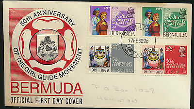 Bermuda Girl Guides Set 50th Anniv Cachet First Day Cover 1969  LOT A175