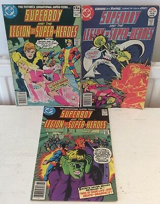 DC COMICS SUPERBOY AND THE LEGION OF SUPER-HEROES #s 224,256,258-1976 & 1979
