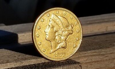 1877-S $20 Double Eagle Gold Coin