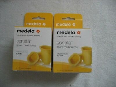 Medela Sonata Spare Membranes 2- 2packs ( NEW) (SEALED) Exclusively for Sonata