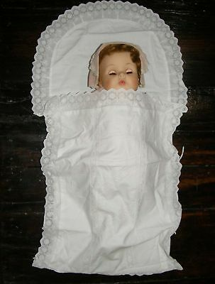 Antique French Baby Swaddle Swaddling Blanket Cloth Sleeping Bag with Lace
