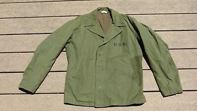 WW2 USN US Navy N-4 M1941 M41 Field Jacket Coat Size 38