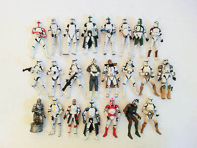 Star Wars Clone Trooper Action Figuren Sammlung Lot Hasbro 3.75 Trilogy Saga