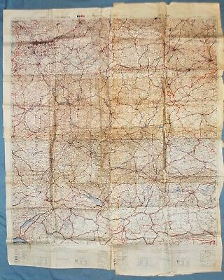 2nd Armored Div. Used WWII British Map of Germany