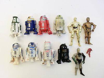 Star Wars Droids Action Figuren Sammlung Lot Hasbro 3.75 Astromech C3Po R2D2