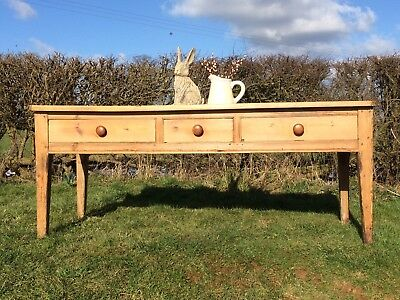 Rare Antique Large Pine Dairy / Farmhouse Table c.1840 Country Farmhouse Estate