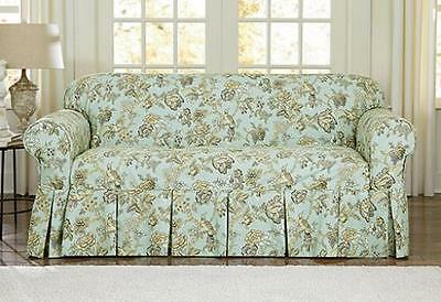 Marvelous Loveseat Sure Fit Moonstone Casablanca Rose By Waverly One Theyellowbook Wood Chair Design Ideas Theyellowbookinfo