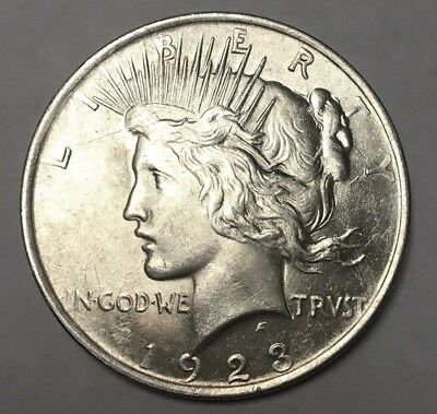1923 Peace Dollar Silver US Coin VERY VERY NICE - LOOK