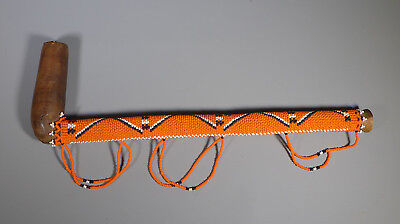 Vintage South African Zulu Beadwork Tobacco Pipe Unsmoked