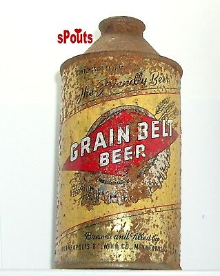 1940's GRAIN BELT BEER CAN GOLD CAP-STYLE CONE TOP IRTP MINNEAPOLIS,MN.MINNESOTA