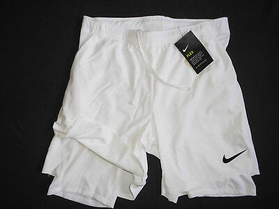 NIKE Flex Ace 2-in-1 Tennisshorts (887522-100) Gr. M NEU