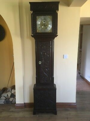 C18th 8 Day Longcase Grandfather Clock By John Ramsbottom of Wakefield